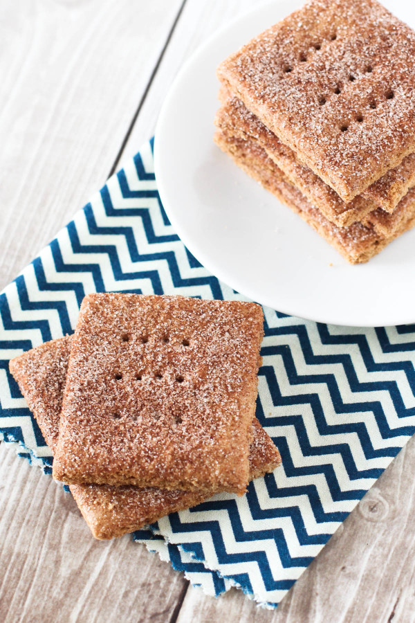 Gluten Free Vegan Cinnamon Sugar Graham Crackers. A beloved childhood ...