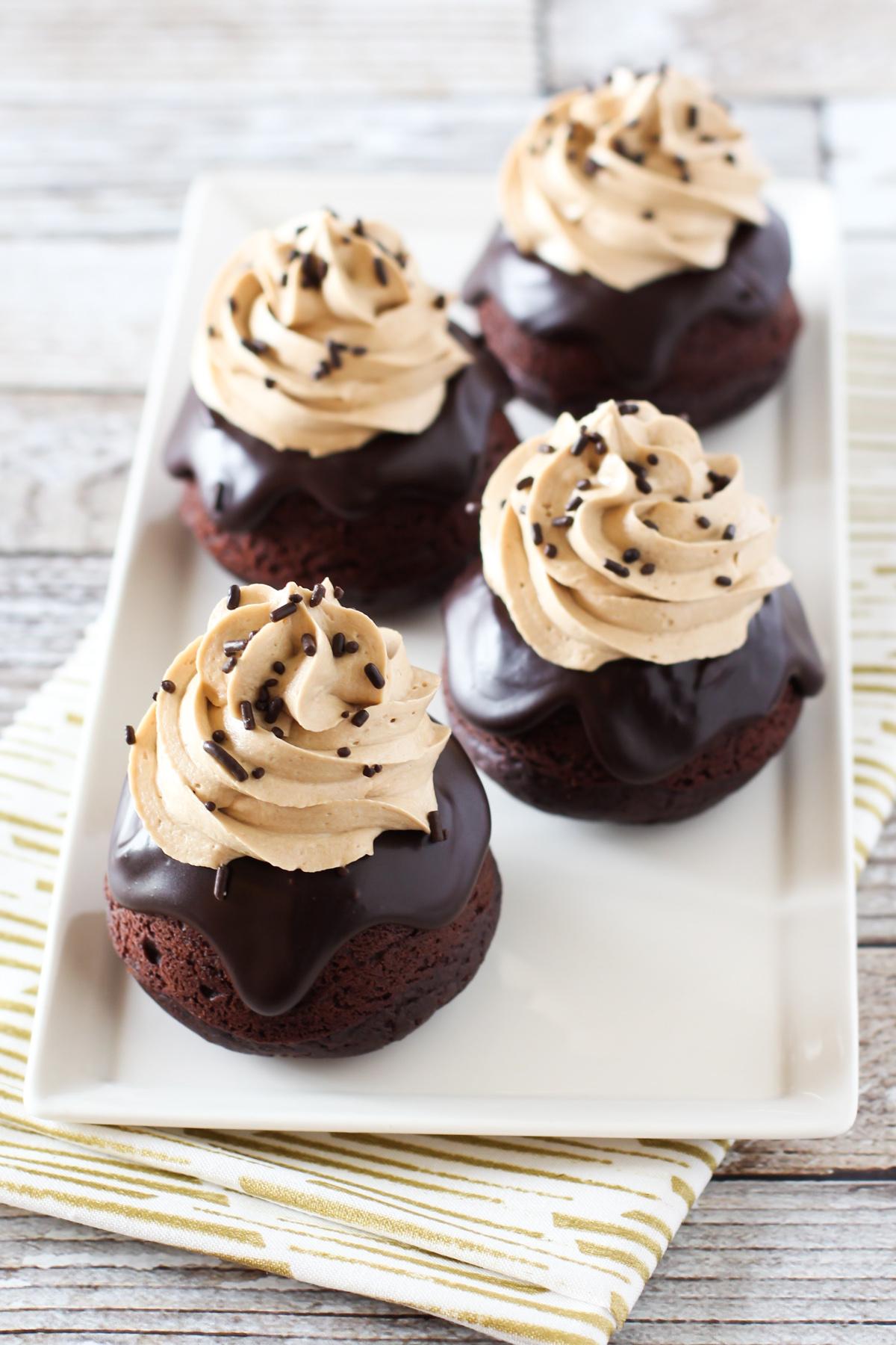 gluten free vegan dark chocolate mocha mini cakes