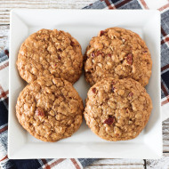 gluten free vegan maple pecan oatmeal cookies
