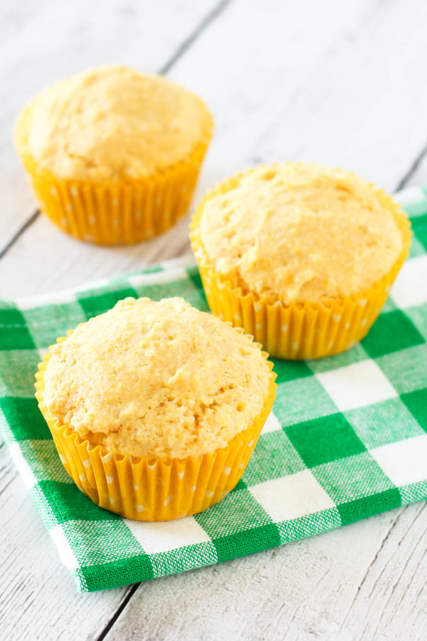 Gluten Free Vegan Sweet Corn Muffins. Perfect served with a bowl of hearty chili or veggies soup!