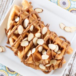 gluten free vegan vanilla almond protein waffles