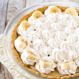 gluten free vegan banana cream pie