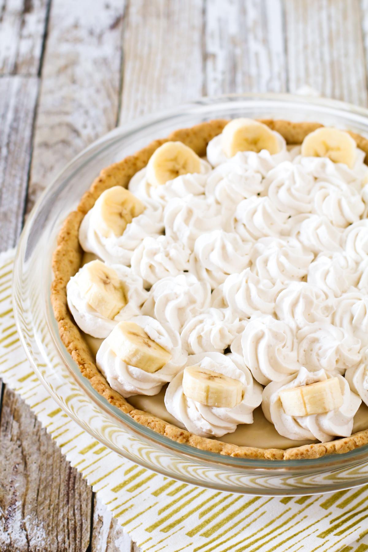 gluten free vegan banana cream pie