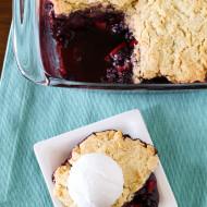 gluten free vegan blackberry apple cobbler