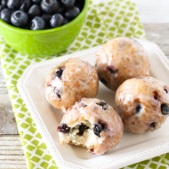 gluten free vegan blueberry donut holes