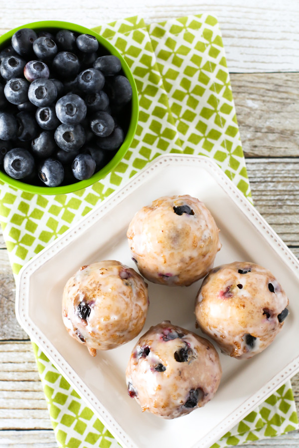 Gluten Free Vegan Blueberry Donut Holes. These fried donut holes are BURSTING with fresh blueberries!