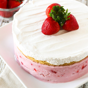 gluten free vegan strawberry ice cream cake