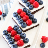 gluten free vegan berries and cream brownies