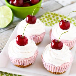 gluten free vegan cherry limeade ice cream cupcakes