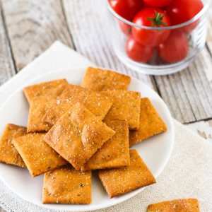 gluten free vegan pizza crackers