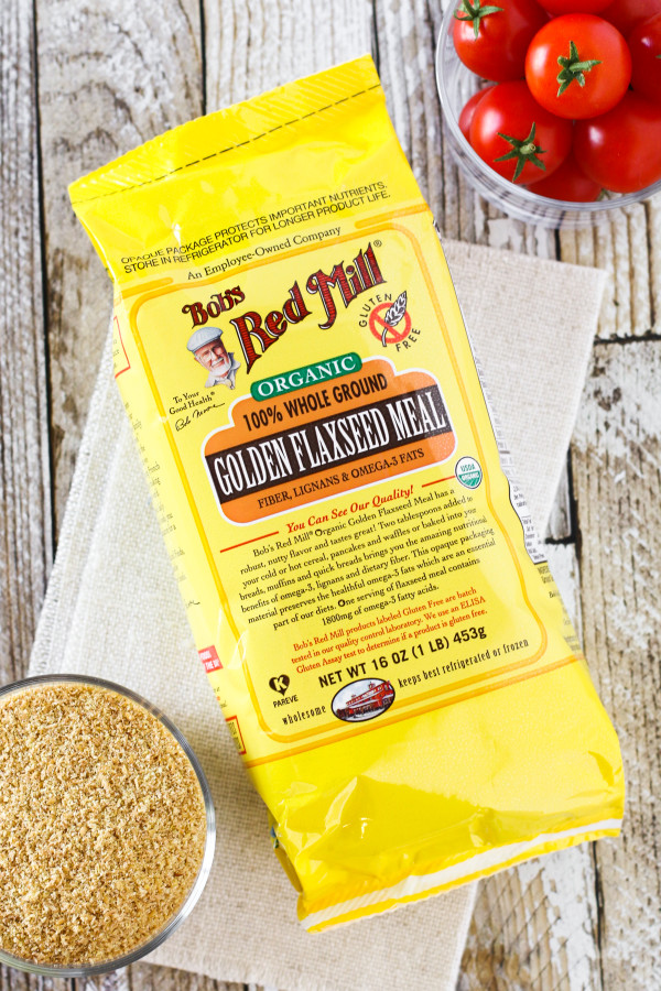 Gluten Free Vegan Pizza Crackers. Featuring Bob's Red Mill golden flaxseed meal, these baked crackers taste just like a slice of pizza!