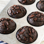 gluten free vegan dark chocolate muffins