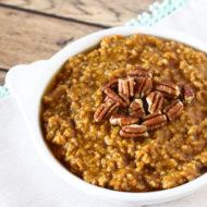 gluten free vegan pumpkin pie oatmeal