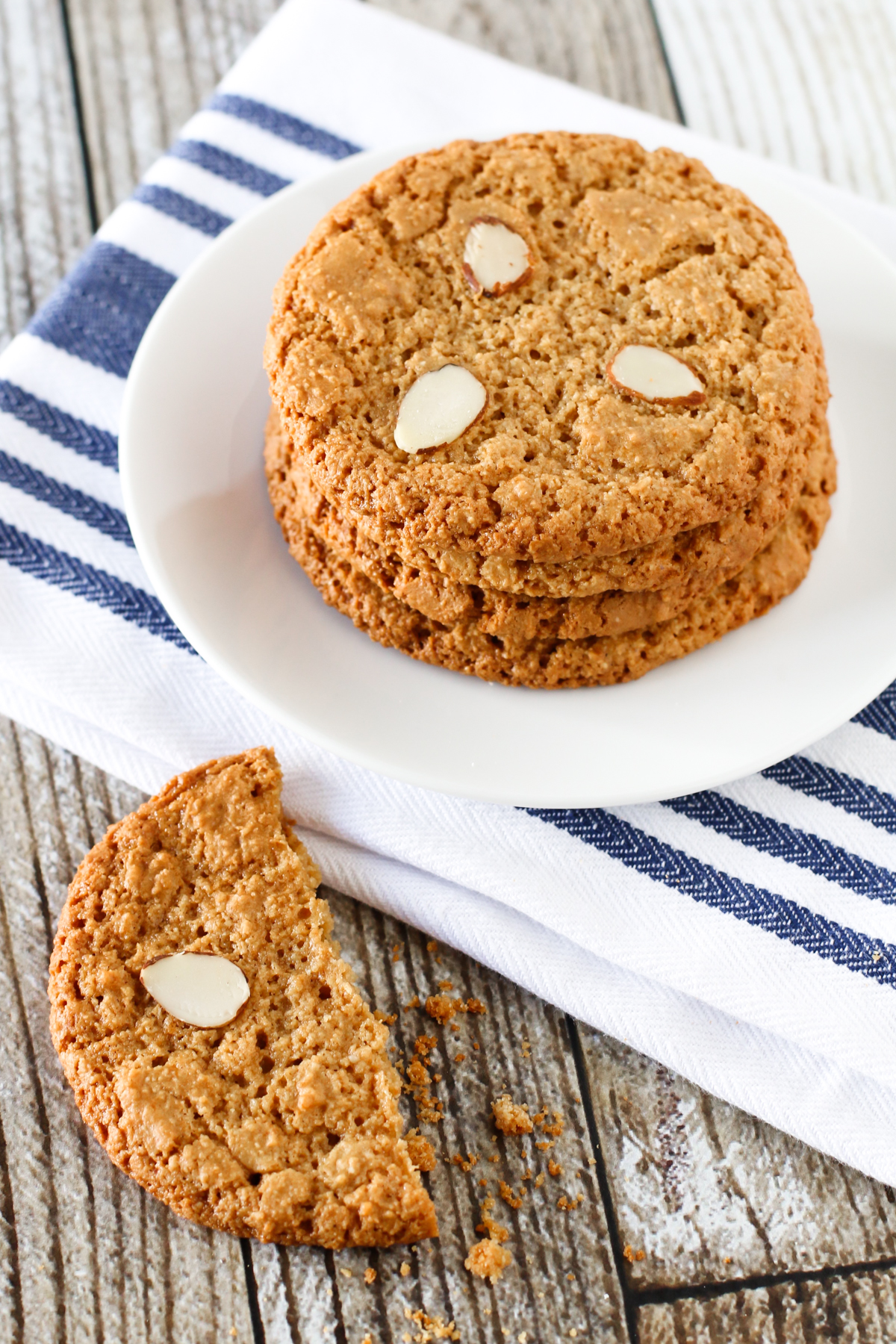 Gluten Free Vegan Almond Cookies. These almond flour cookies have the perfect chewy, crispy texture.