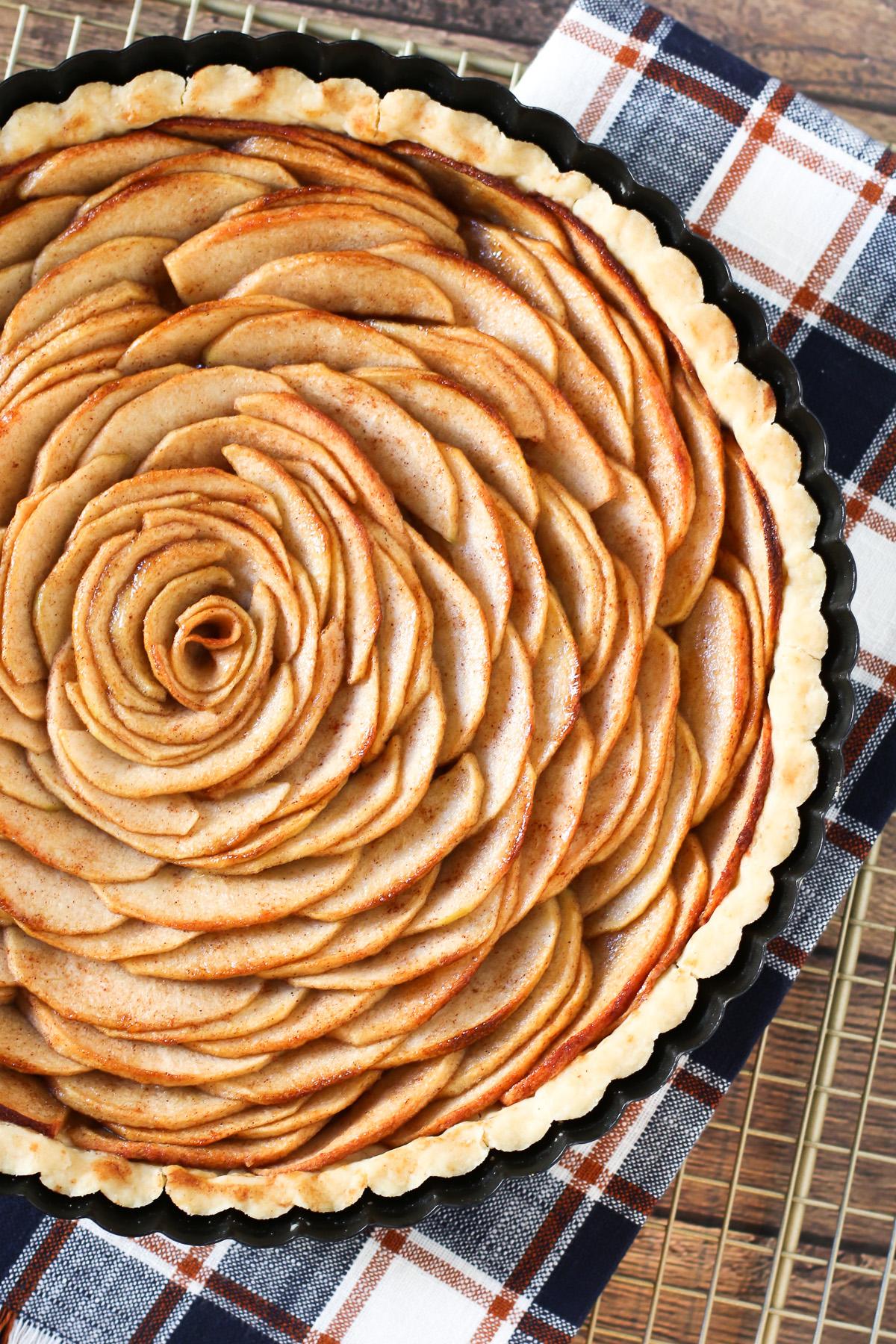 Gluten Free Vegan Apple Tart