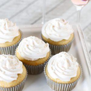 gluten free vegan champagne cupcakes