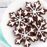 gluten free vegan chocolate snowflake sugar cookies