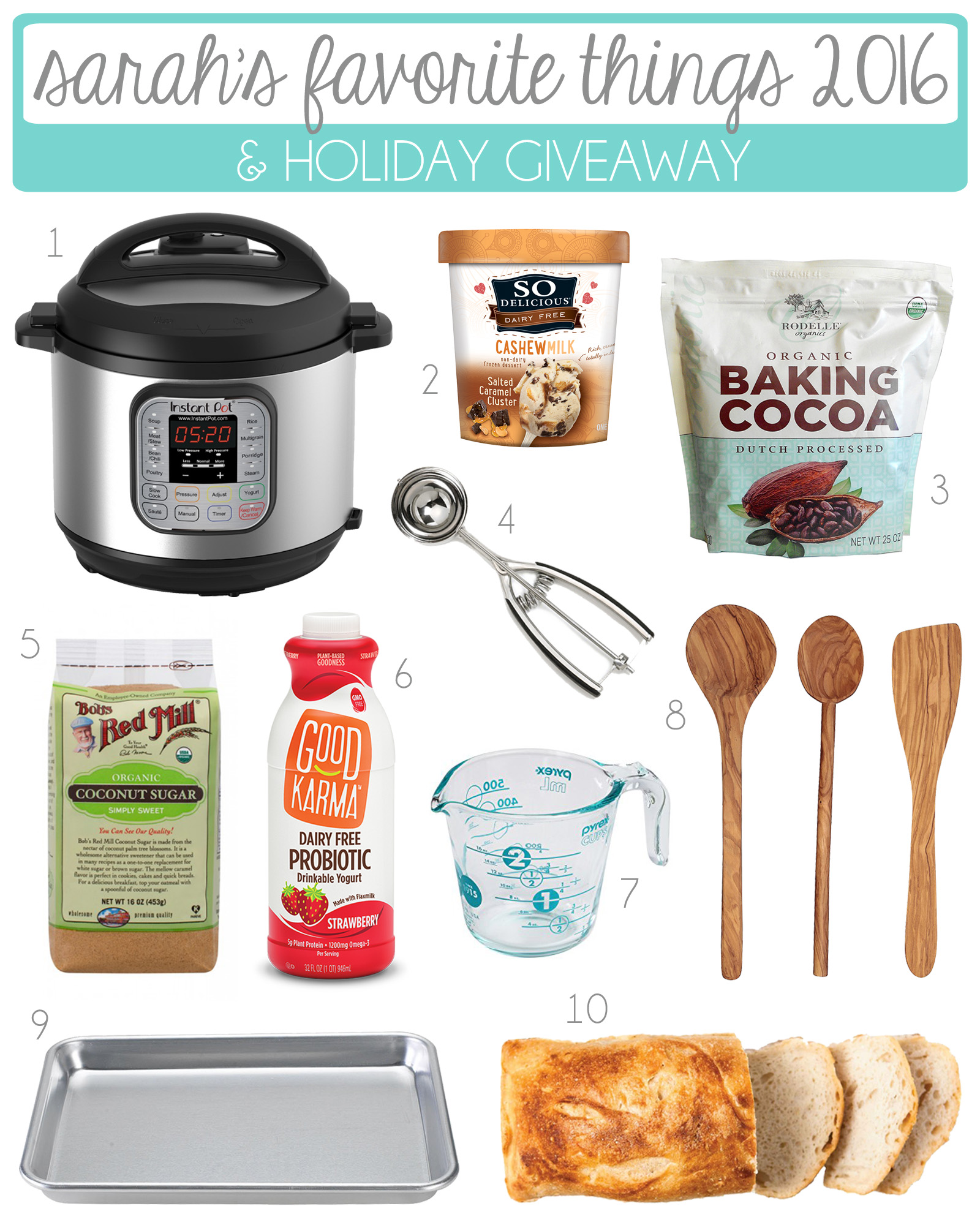 Sarah's Favorite Things 2016. From kitchen gadgets to baking ingredients, these are my must-haves this year!