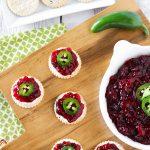 sweet and spicy cranberry jalapeño chutney