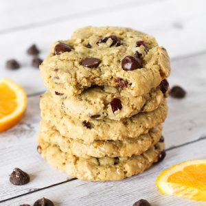 gluten free vegan cranberry orange chocolate chip cookies