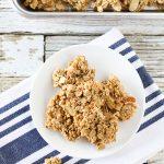 gluten free vegan maple almond granola clusters