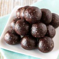 paleo chocolate brownie energy bites