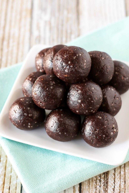 Paleo Chocolate Brownie Energy Bites Sarah Bakes Gluten Free