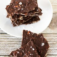 sea salt chocolate almond bark