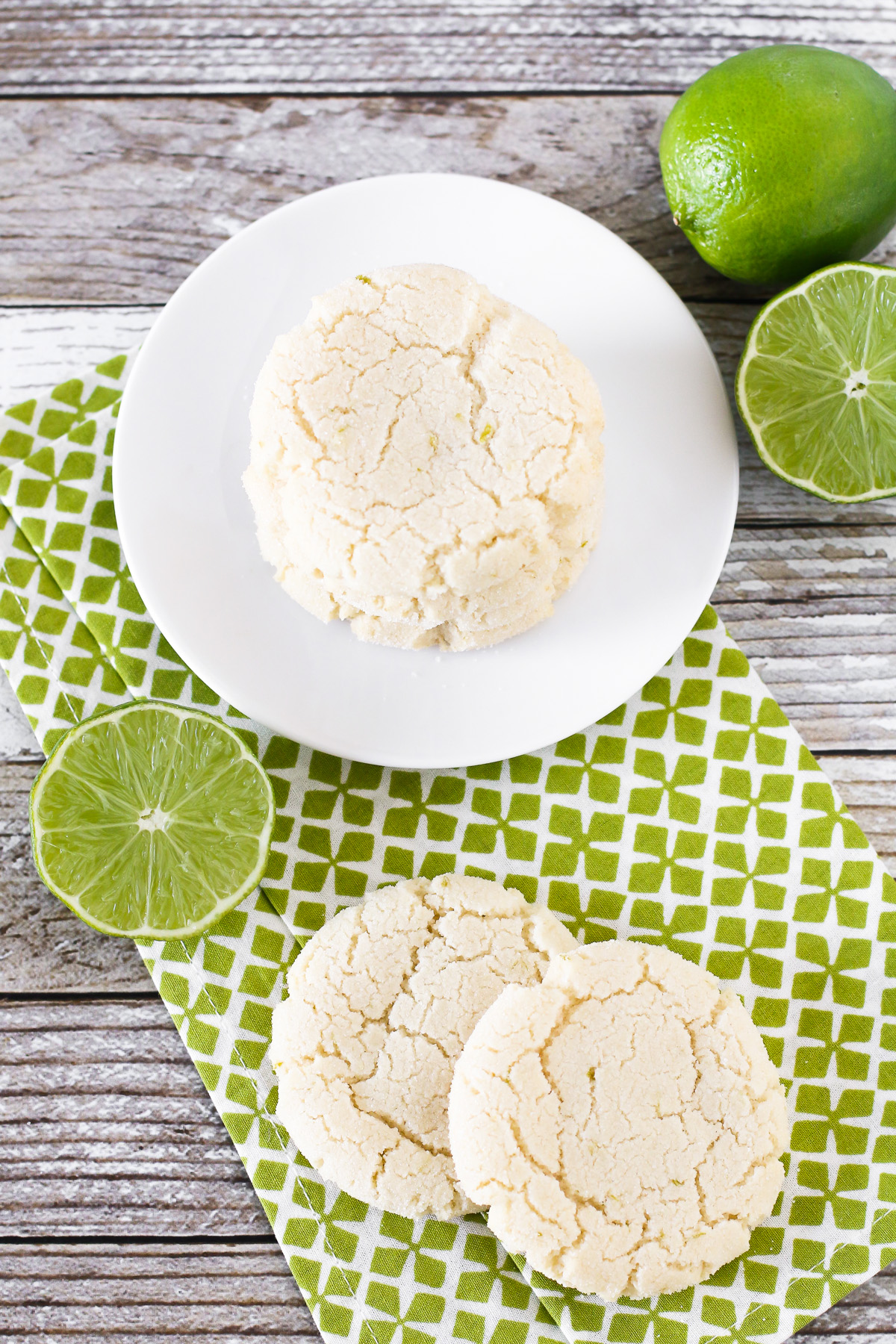 Gluten Free Vegan Lime Sugar Cookies. Crispy, chewy sugar cookies, bursting with fresh lime!