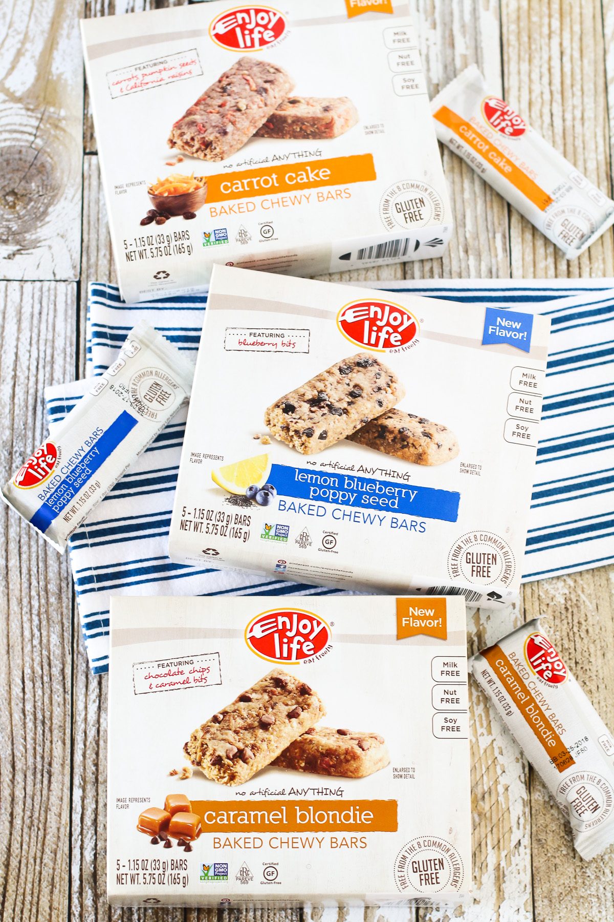 Enjoy Life Baked Chewy Bars. These bars are vegan, gluten free and top 8 free! Perfect healthy snack!