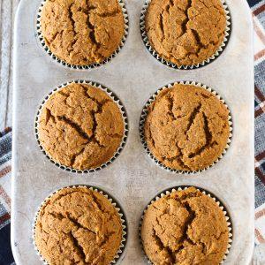 gluten free vegan pumpkin spice muffins