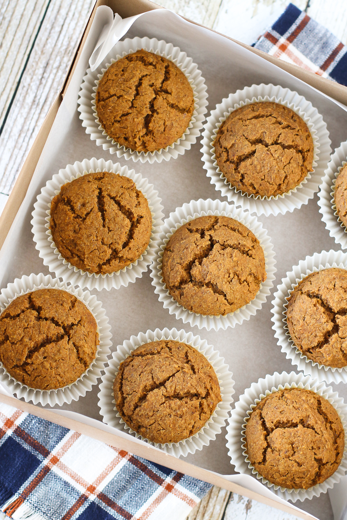Gluten Free Vegan Pumpkin Spice Muffins. Packaged and ready to be shared with a friend or neighbor!