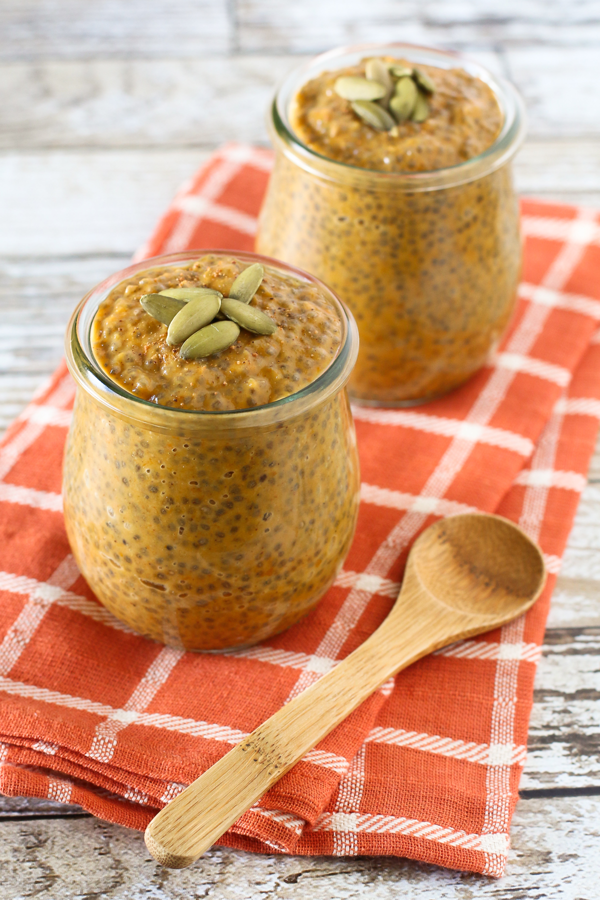 Dairy Free Pumpkin Pie Chia Pudding. A healthy fall dessert, with the classic flavors of pumpkin pie!
