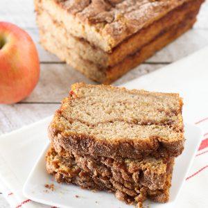 gluten free vegan apple cinnamon swirl bread