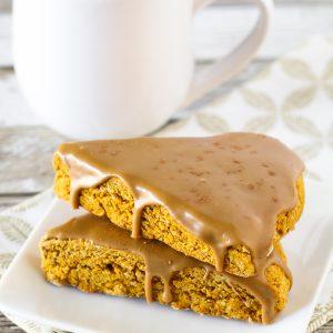 gluten free vegan pumpkin spice latte scones