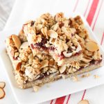 gluten free vegan raspberry almond crumb bars