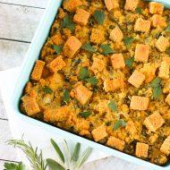 gluten free vegan cornbread stuffing