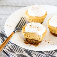 gluten free vegan mini pumpkin cheesecakes