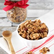 gluten free holiday spice granola