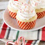 gluten free vegan candy cane cupcakes
