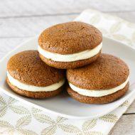 gluten free vegan gingerbread whoopie pies