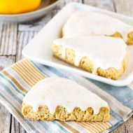 gluten free vegan glazed lemon scones