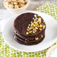 gluten free vegan sea salt pistachio chocolate cookies