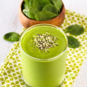 Dairy Free Super Green Smoothie. Get your greens with this bright and vibrant green smoothie!