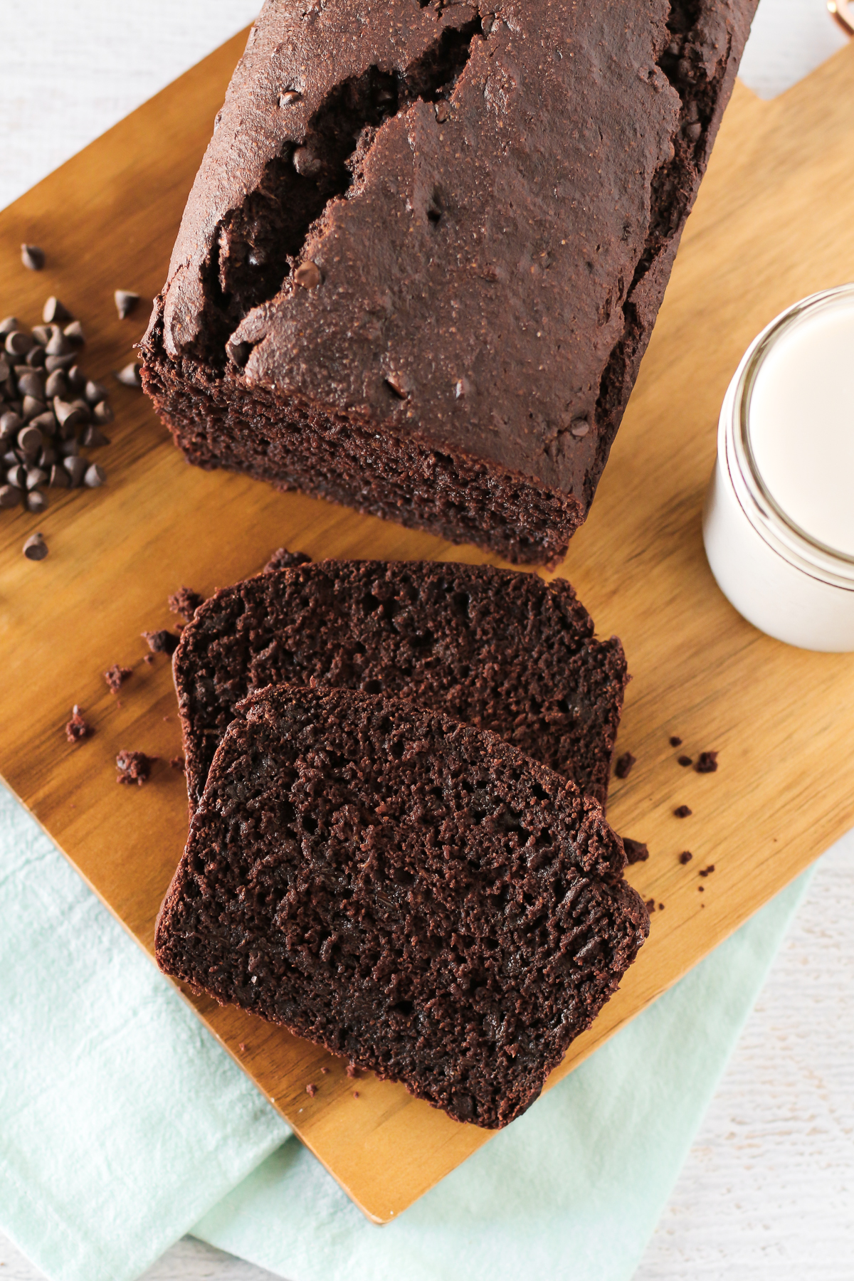 Gluten Free Vegan Chocolate Banana Bread. What's better than a slice of warm, fresh out of the oven banana bread? When it's chocolate banana bread!
