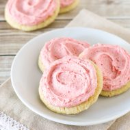 gluten free vegan frosted strawberry sugar cookies