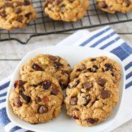 gluten free vegan trail mix cookies