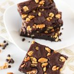 gluten free vegan walnut brownies