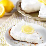 Gluten Free Vegan Lemon Cream Pie. Creamy, dreamy lemon filling in a graham cracker crust. A luscious lemon pie!