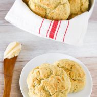 gluten free vegan drop biscuits
